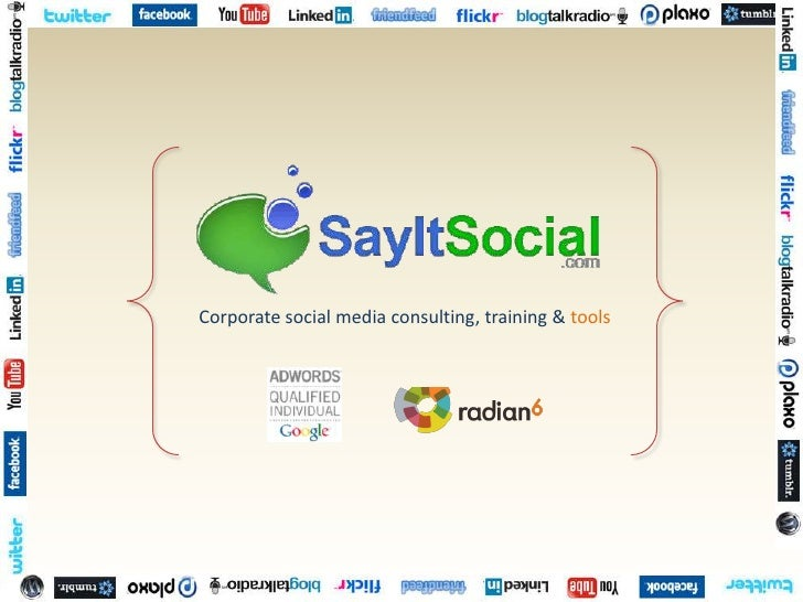 Corporate social media consulting, training & tools<br />