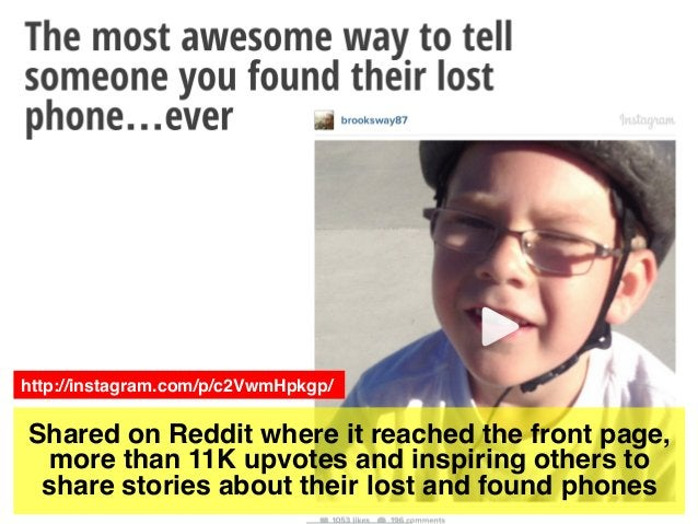 Shared on Reddit where it reached the front page, more than 11K upvotes and inspiring others to share stories about their ...