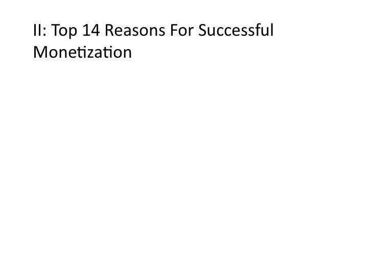 II:Top14ReasonsForSuccessfulMoneDzaDon