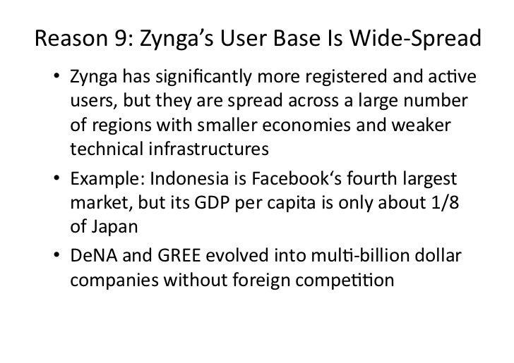 Reason9:Zynga'sUserBaseIsWide‐Spread • ZyngahassignificantlymoreregisteredandacDve    users,buttheyaresp...