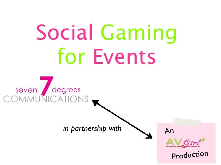 Social Gaming  for Events  in partnership with   An                         Production
