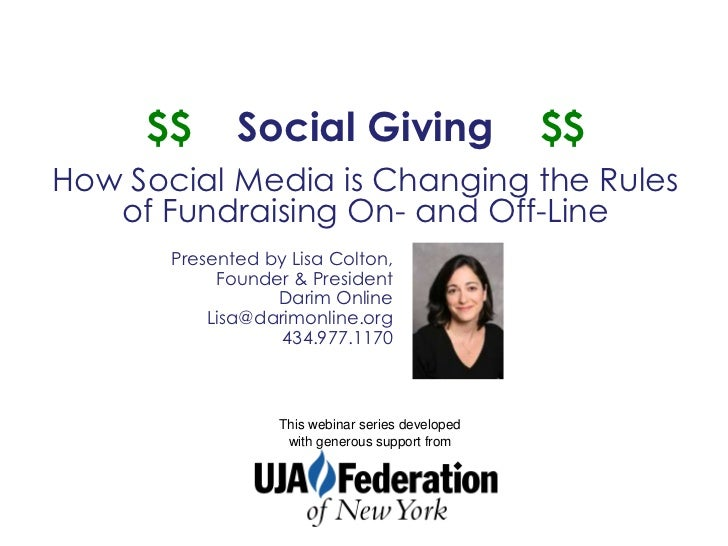 $$       Social Giving                        $$How Social Media is Changing the Rules   of Fundraising On- and Off-Line  ...
