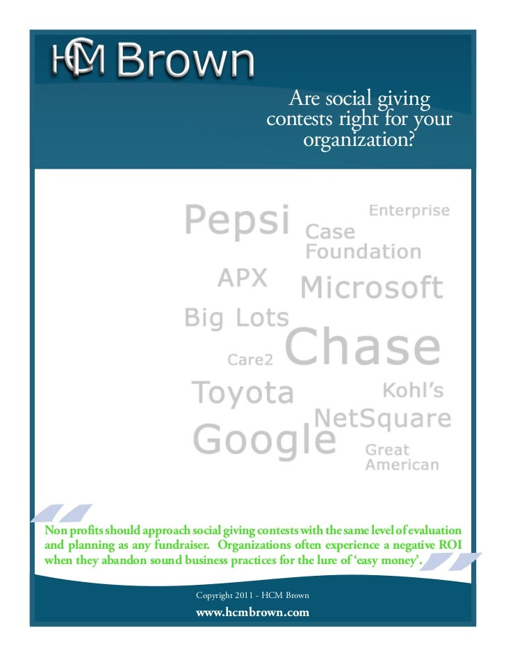 Are social giving                                              contests right for your                                    ...