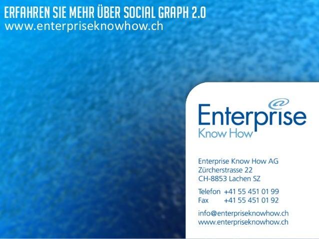 erfahren sie mehr über Social Graph 2.0  www.enterpriseknowhow.ch