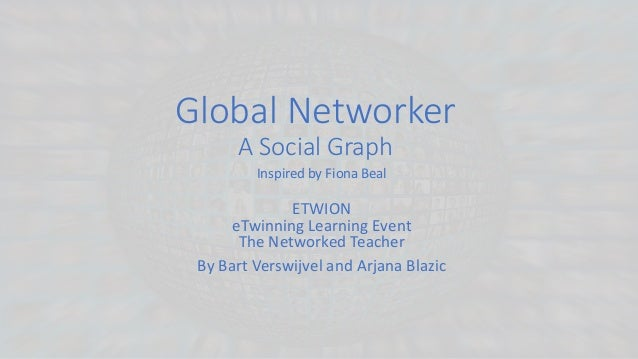 Global Networker A Social Graph Inspired by Fiona Beal ETWION eTwinning Learning Event The Networked Teacher By Bart Versw...