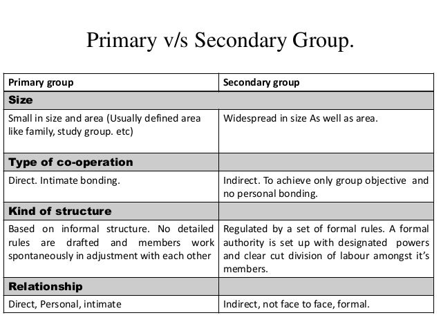 meaning of primary group