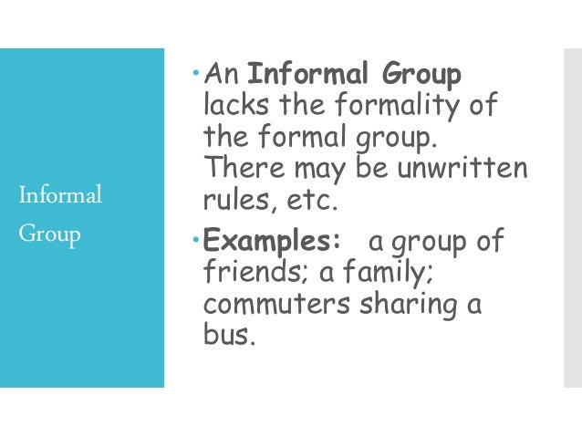 different social groups examples