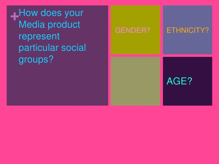 +How does your Media product                     GENDER?   ETHNICITY? represent particular social groups?                 ...
