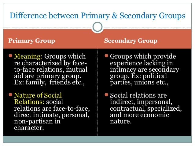 interpersonal relationship and primary groups Interpersonal communication involves interchanging ideas with others using an assortment of methods how to improve interpersonal relationships.