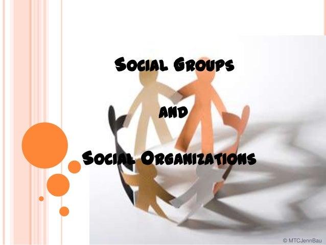 SOCIAL GROUPS AND SOCIAL ORGANIZATIONS © MTCJennBau