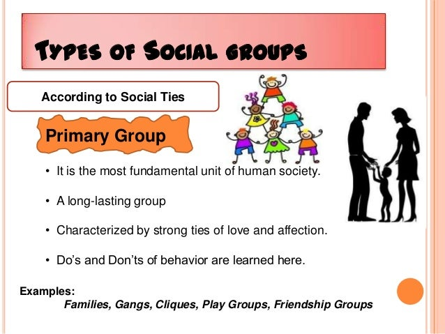 Examples of social groups in an organization