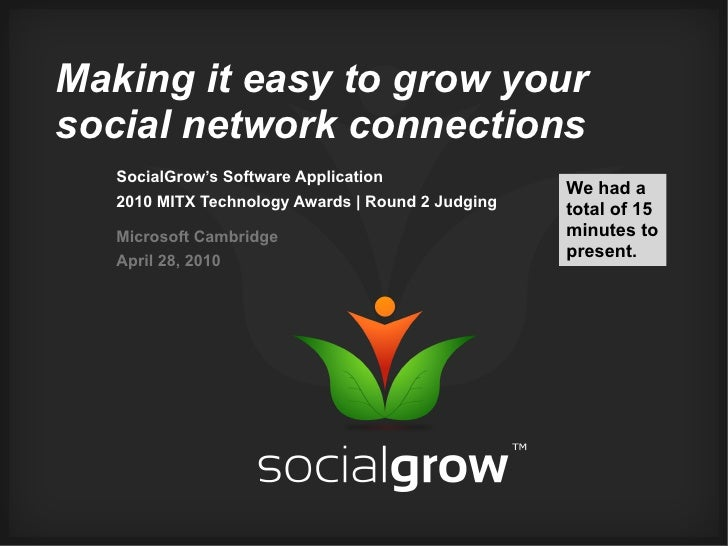 Making it easy to grow your social network connections    SocialGrow's Software Application                               ...