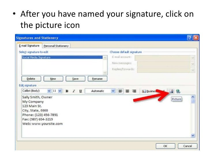 Insert Image Icon Outlook HOW TO Add Social Medi...