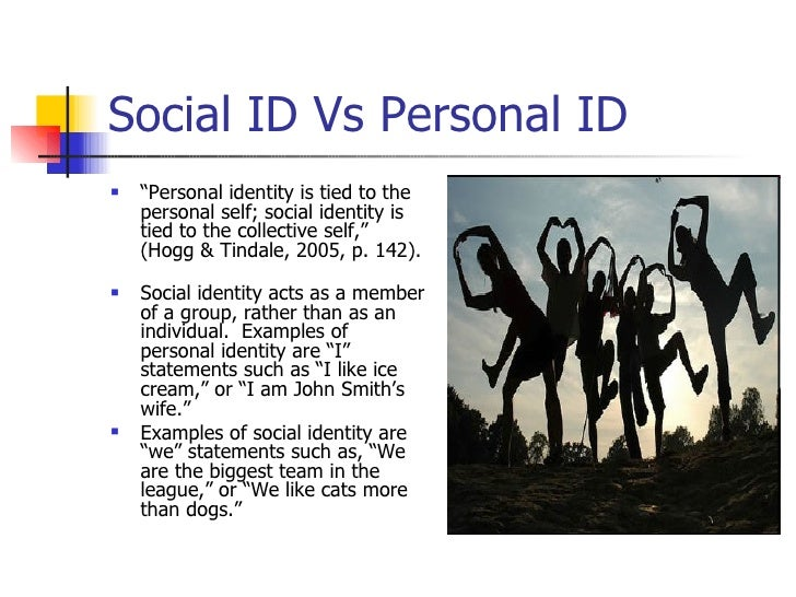 Social identity vs personal identity