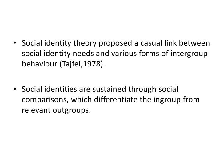 the concept of social identity And yet one's social identity seems to stand a bit apart from any of these  psychological concepts singly cognitive psychology focuses on some.