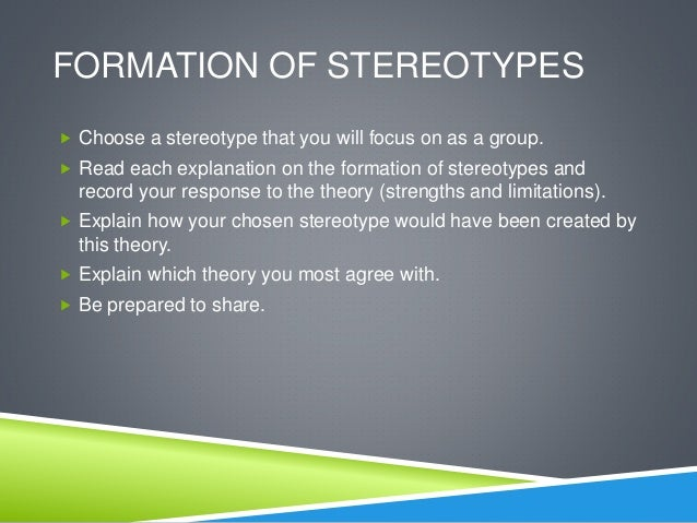 stereotyping and social identity theory Social discrimination, identity, and stereotyping introduction the problem with society is that we cannot accept that we are all different many people have seen others as different from themselves but feel that they are in the majority of people that are alike.
