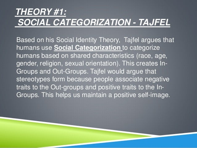 "social identity theory The theory also suggests that group membership is a significant source in establishing self-esteem, a high need for most individuals people make social comparisons to enhance the status of the group to which they belong to increase their own self-esteem, thus creating the ""in-group"" (us."