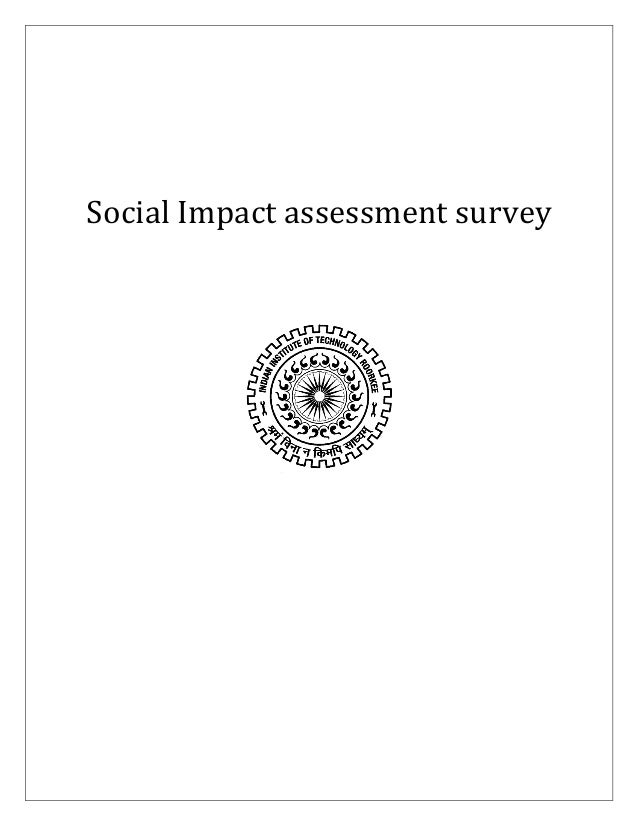 Social Impact assessment survey