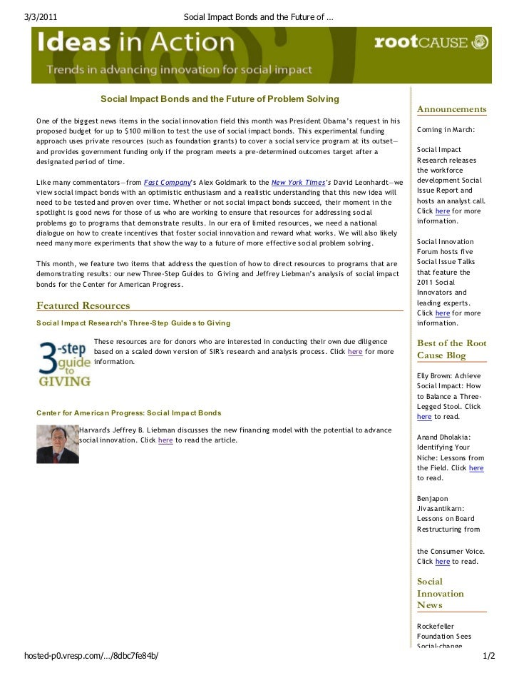 3/3/2011                                       Social Impact Bonds and the Future of …                      Social Impact ...