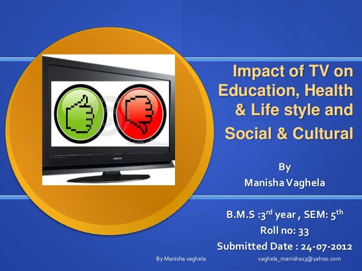 the impact of tv Internet's impact on social life has ignored this diversity of use, treating aggregate   examining the effects of internet use on respondents' tv viewing habits.