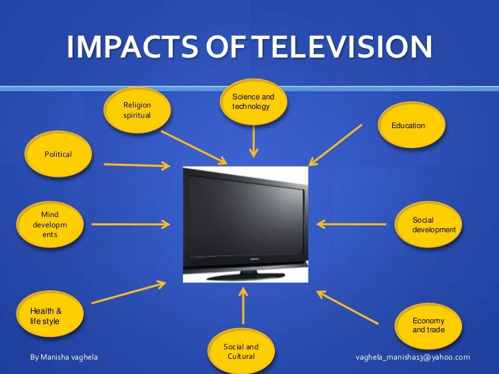 impact of television on society Media is a way of communication in the modern world media is divided into electronic media and print media newspapers, magazines and other weekly editorials etc are included in print.
