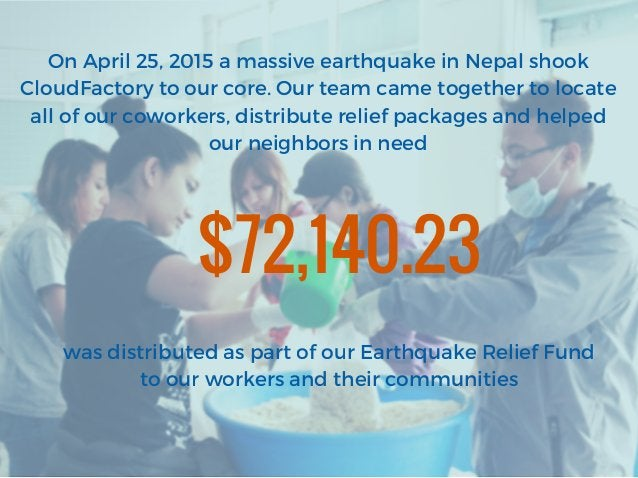 On April 25, 2015 a massive earthquake in Nepal shook CloudFactory to our core. Our team came together to locate all of ou...