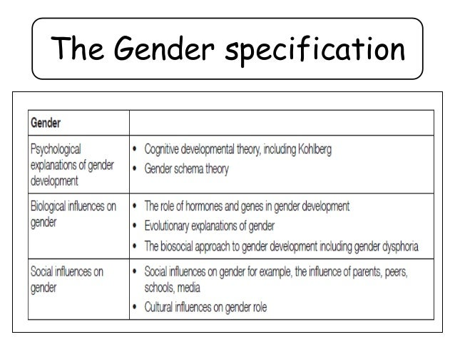 gender social influences on gender role a