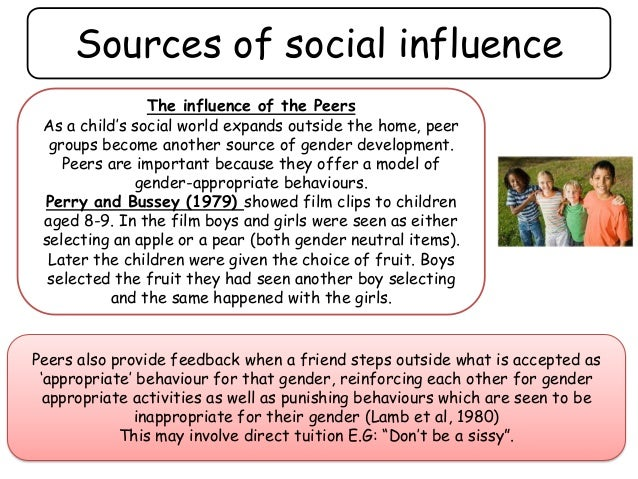 parental influence on childrens socialization gender roles essay When a child is in a toy store, they go right to the toys that are packaged in colors that are appropriate for their gender according to the social learning theory children learn gender roles as they are taught by parents, school, and the media.