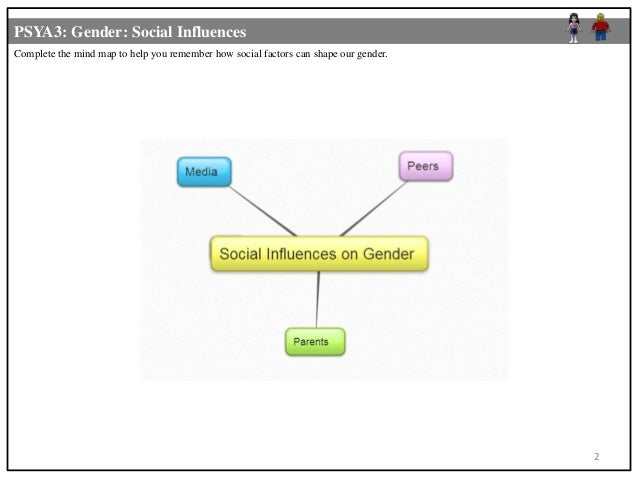 social influences on gender roles Characterize a society or a social group and limited influence over the decision-making processes that gender roles.