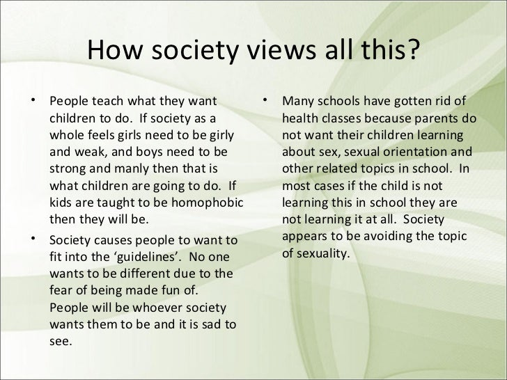 My views on sexuality