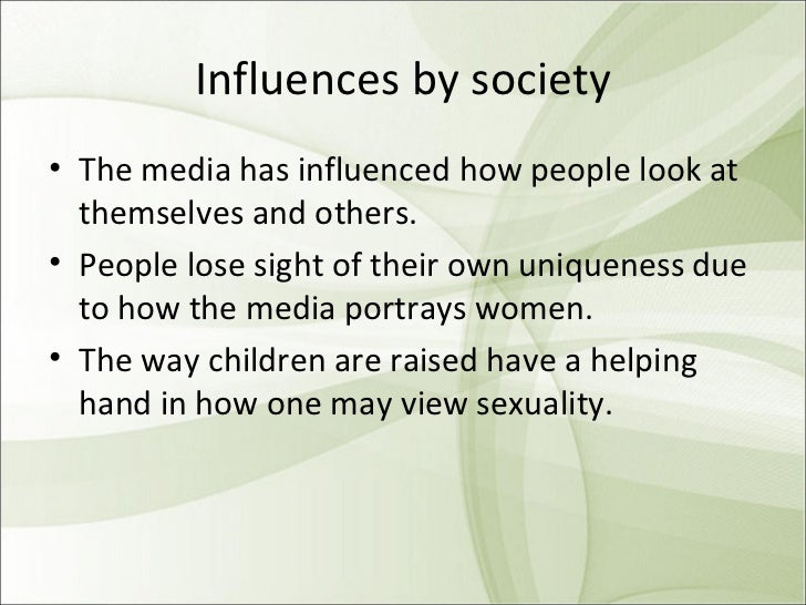 Social media influence on sexuality