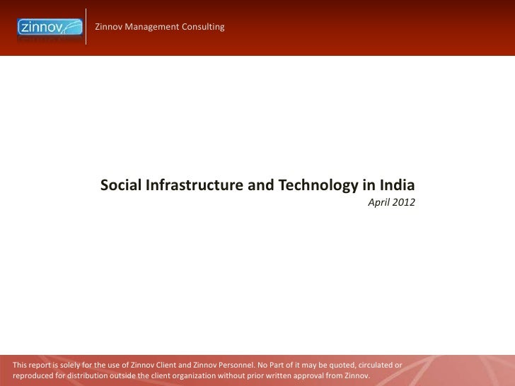 Zinnov Management Consulting                         Social Infrastructure and Technology in India                        ...