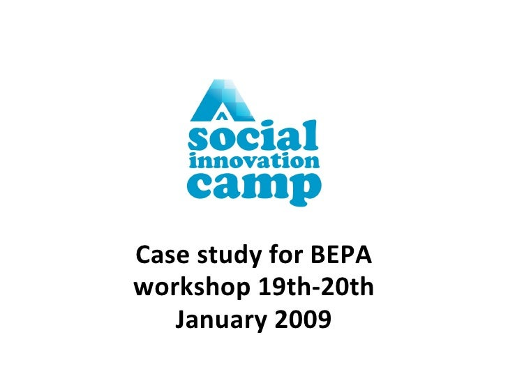 Case study for BEPA workshop 19th-20th January 2009
