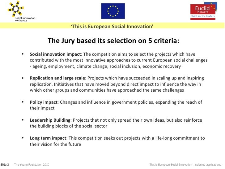 'This is European Social Innovation': Selected Projects Slide 3
