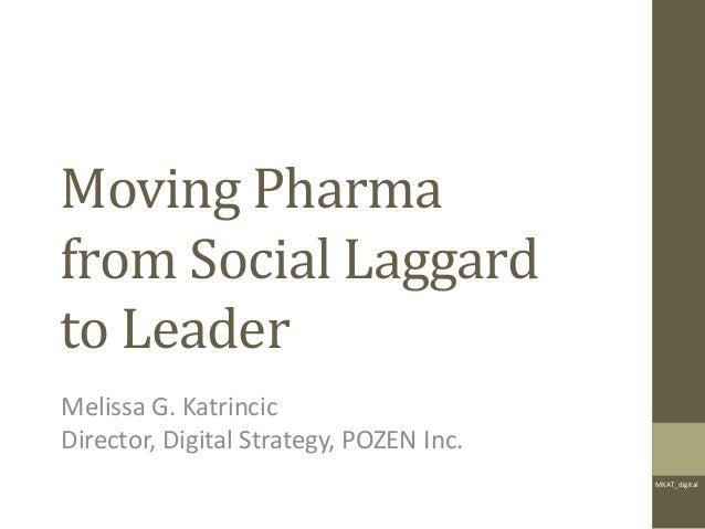 MKAT_digitalMoving Pharmafrom Social Laggardto LeaderMelissa G. KatrincicDirector, Digital Strategy, POZEN Inc.