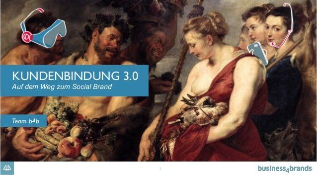 1 KUNDENBINDUNG 3.0 Auf dem Weg zum Social Brand Team b4b