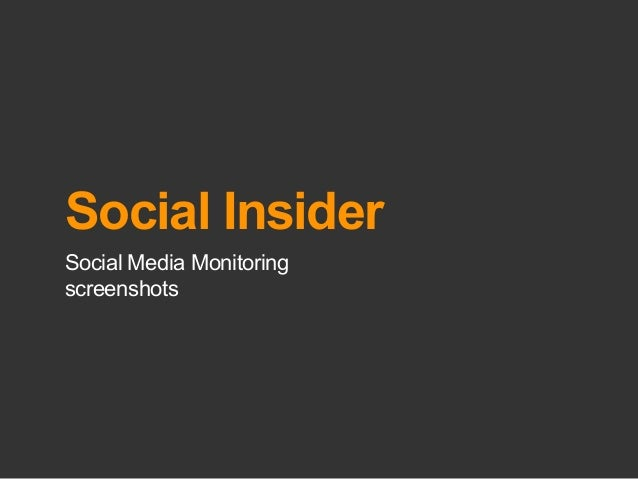 Social InsiderSocial Media Monitoringscreenshots