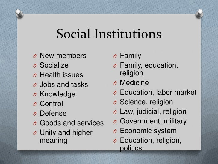 social institutions and its problems in the philippines I - social and cultural issues of education - ea nozhin  special, scientific and educational institutions involved in solving social and cultural problems .
