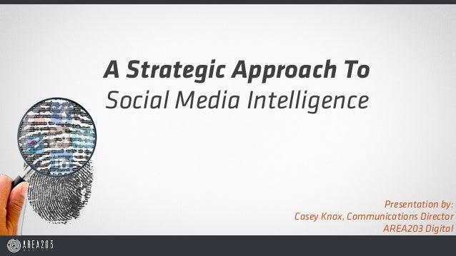 A Strategic Approach ToSocial Media Intelligence                                   Presentation by:                 Casey ...