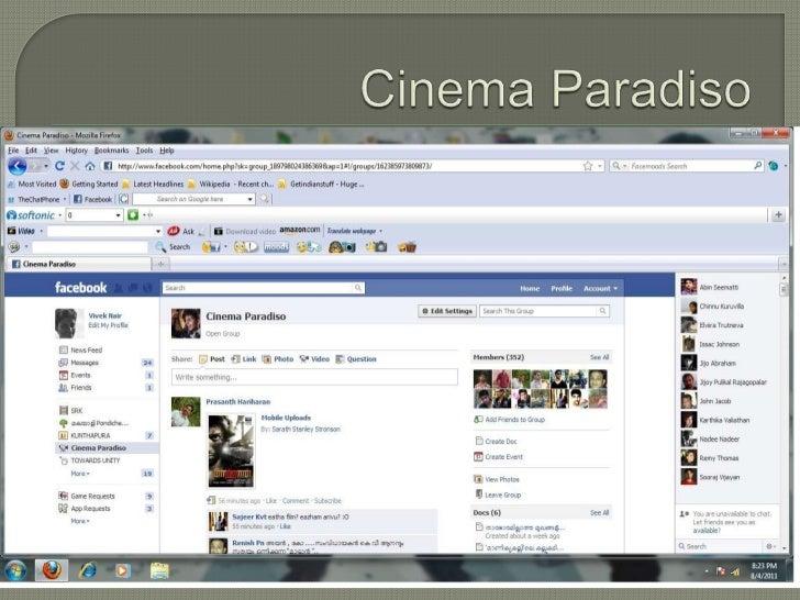 Facebook - Social Interaction in Film Based Communities by Vivek