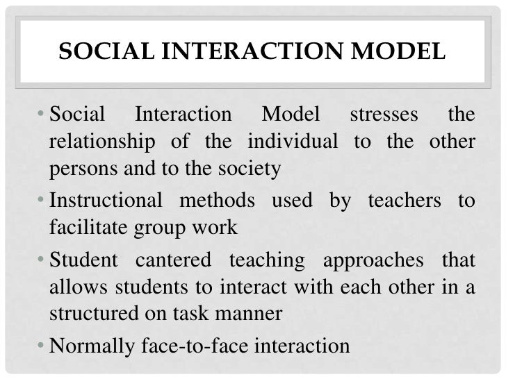 Classroom Design Definition Teaching ~ Social interaction model