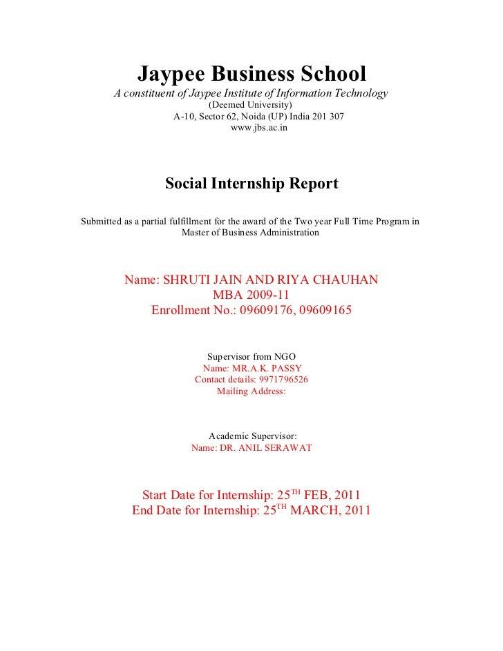 Jaypee Business School        A constituent of Jaypee Institute of Information Technology                               (D...