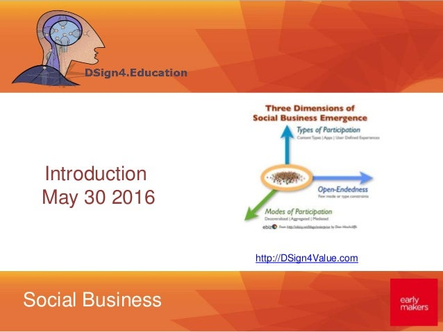 Social Business http://DSign4Value.com Introduction May 30 2016
