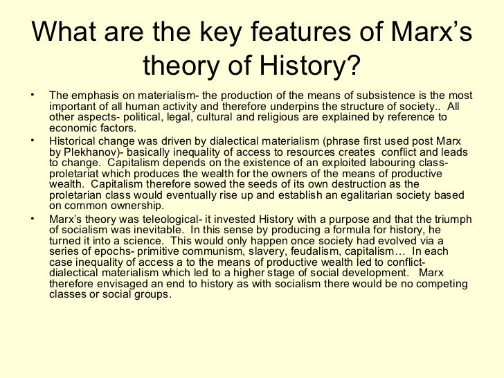 key features of marxism