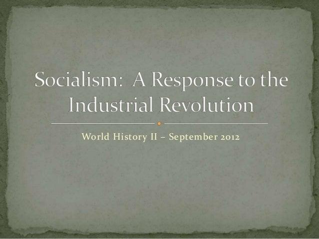 World History II – September 2012