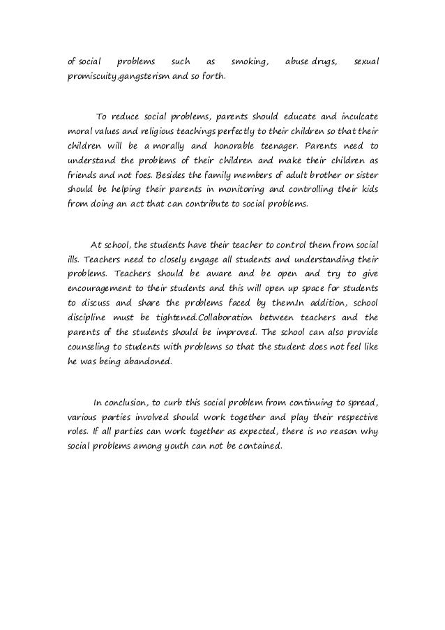 Social issues essay By Kelvin