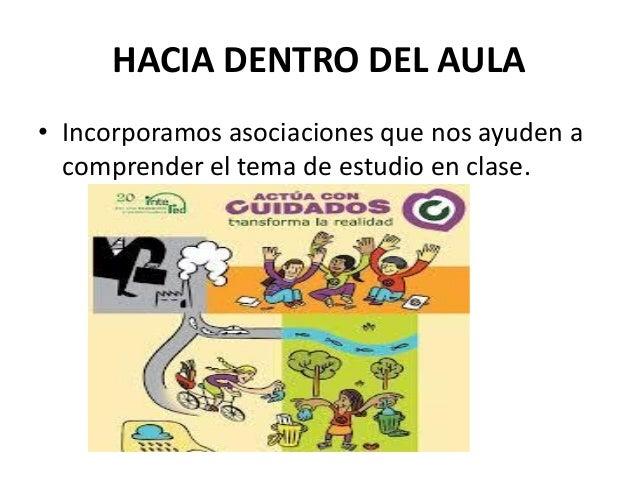 HACIA DENTRO DEL AULA • Incorporamos asociaciones que nos ayuden a comprender el tema de estudio en clase.