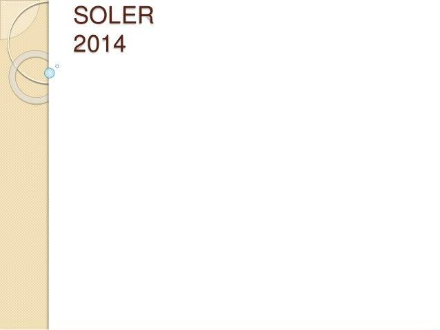 SOLER 2014