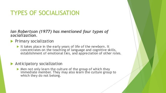 what does the term socialisation mean