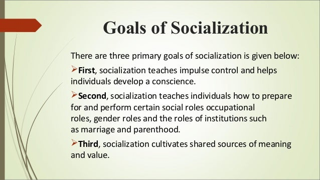 role of education in socialisation